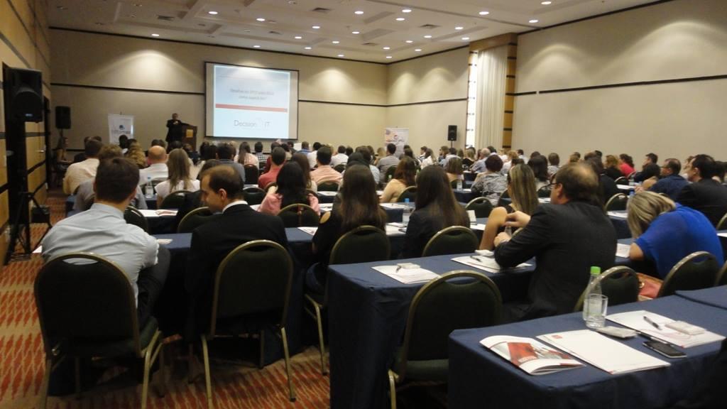 """Imagem do público no evento da Decision IT """"O que aprendemos com a EFD-Contribuições?"""""""